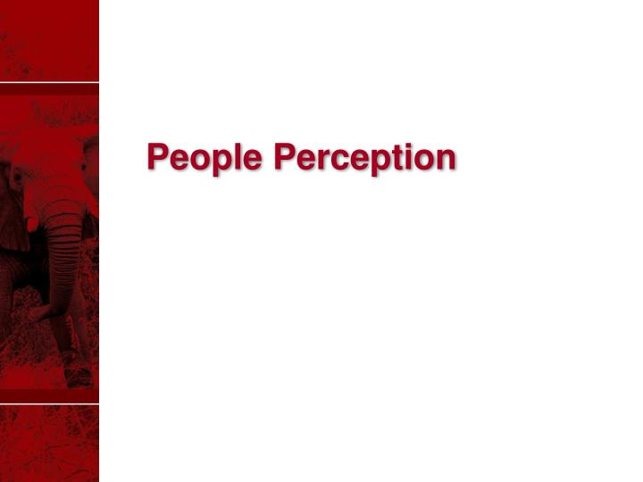 People Perception