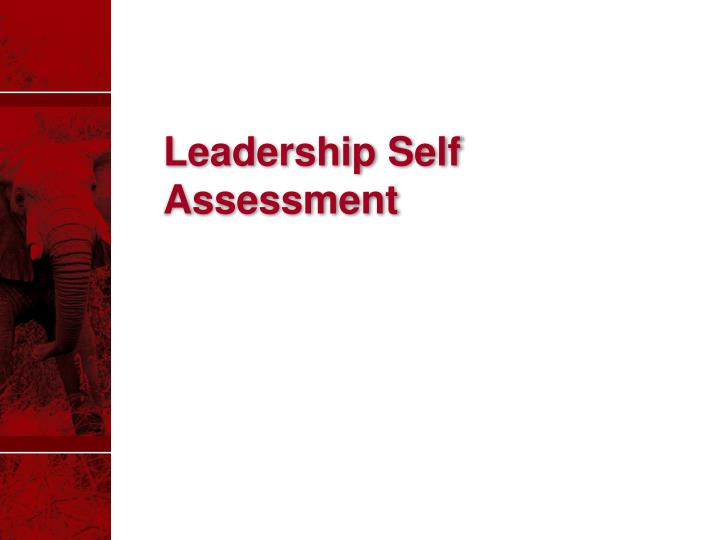 Leadership Self Assessment