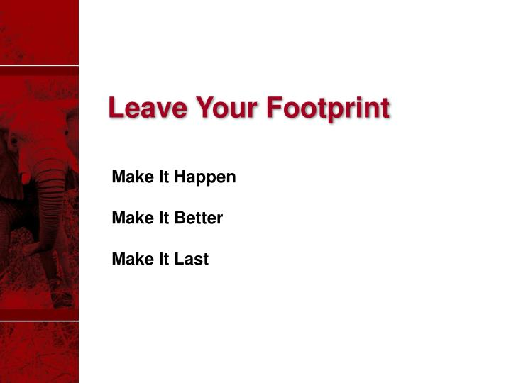 Leave Your Footprint