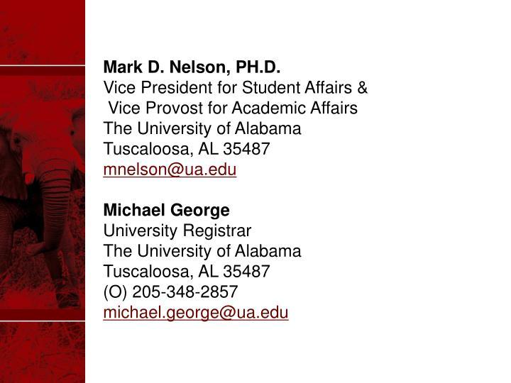 Mark D. Nelson, PH.D.