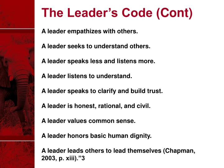 The Leader's Code (