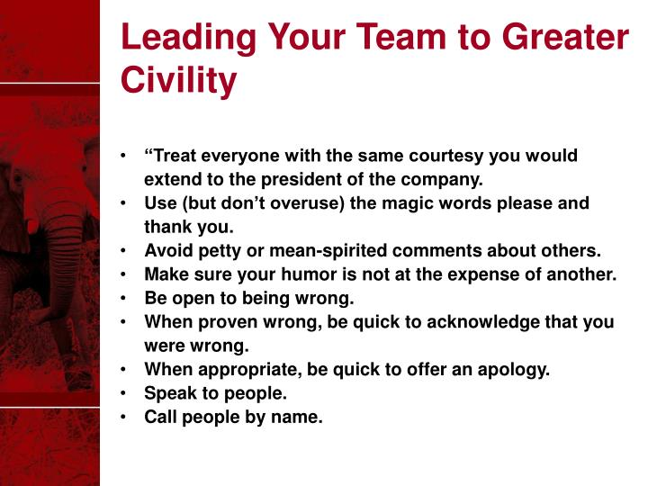 Leading Your Team to Greater Civility