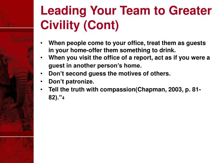 Leading Your Team to Greater Civility (