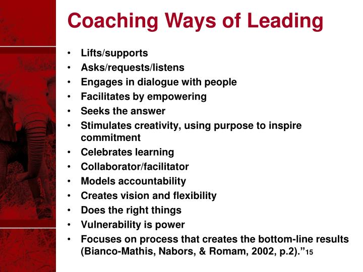 Coaching Ways of Leading
