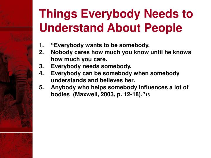 Things Everybody Needs to Understand About People