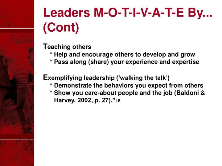 Leaders M-O-T-I-V-A-T-E