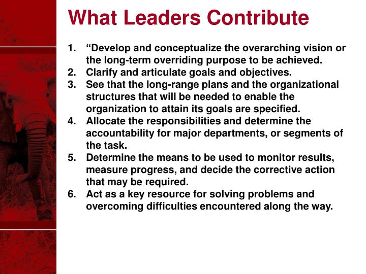 What Leaders Contribute