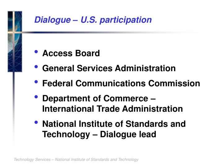 Dialogue – U.S. participation