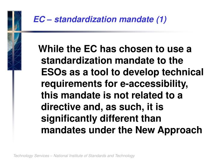 EC – standardization mandate (1)