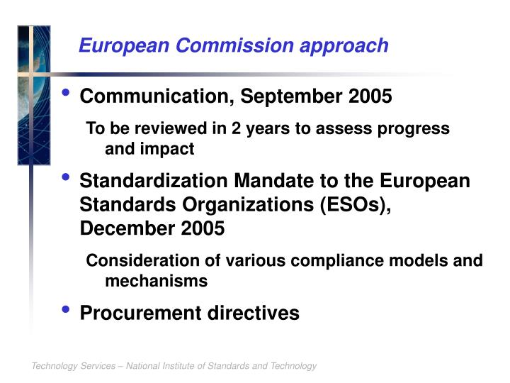 European Commission approach