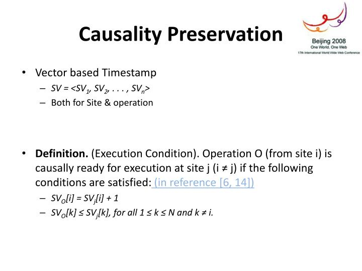 Causality Preservation