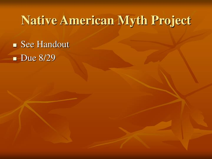 Native American Myth Project