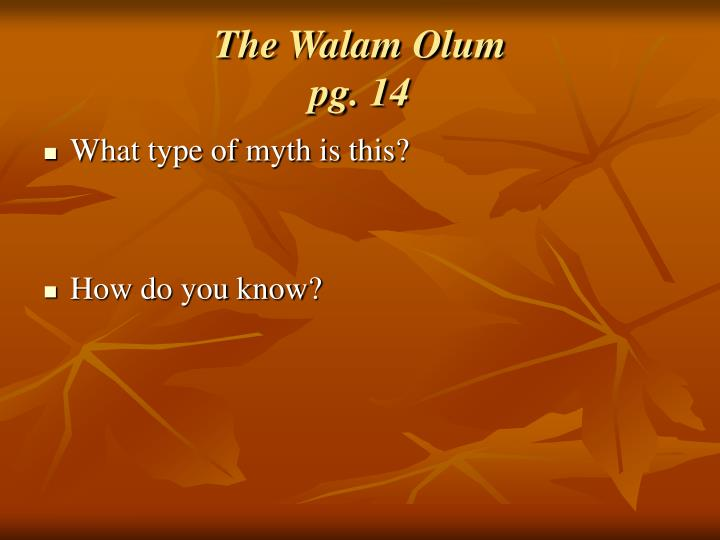 The Walam Olum