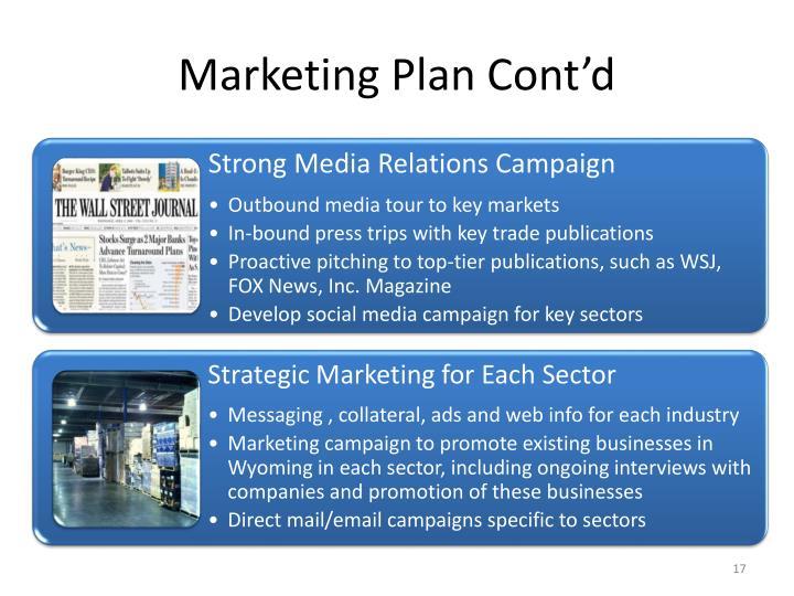 Marketing Plan Cont'd