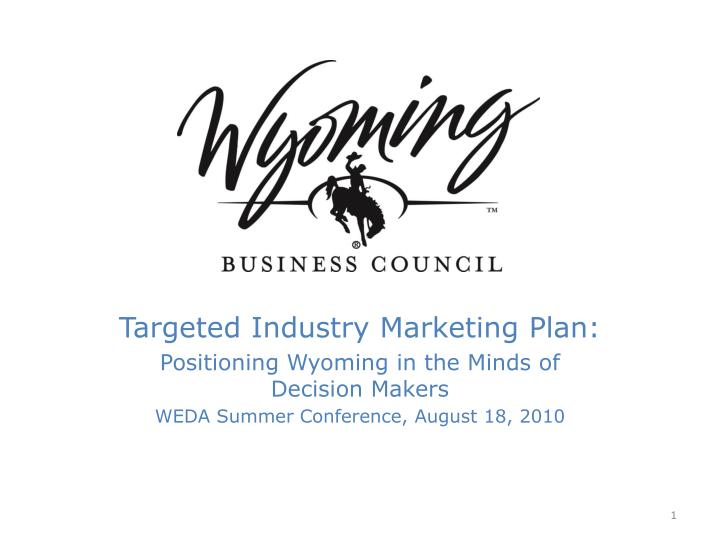 Targeted Industry Marketing Plan: