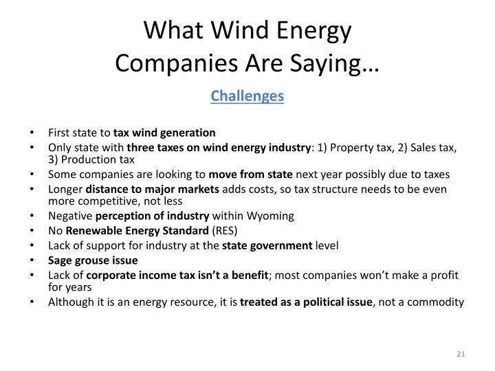 What Wind Energy