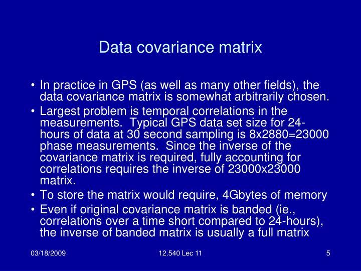 Data covariance matrix