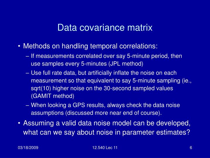 Data covariance matrix