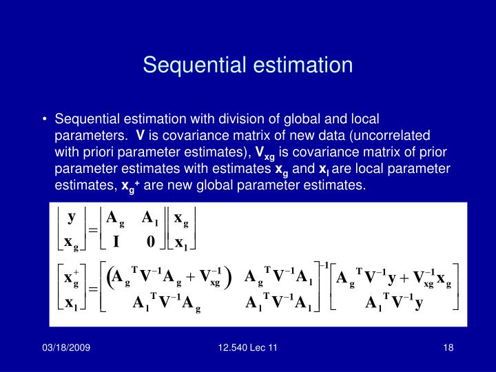 Sequential estimation