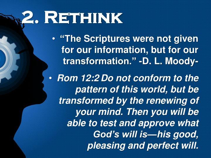 2. Rethink