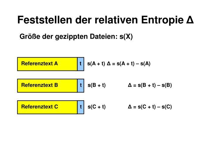 Feststellen der relativen Entropie