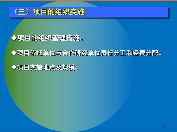 (三)项目的组织实施
