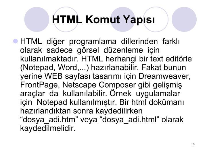 HTML Komut Yaps