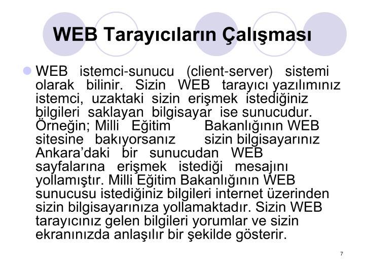 WEB Tarayclarn almas