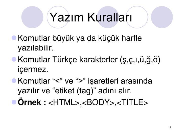 Yazm Kurallar