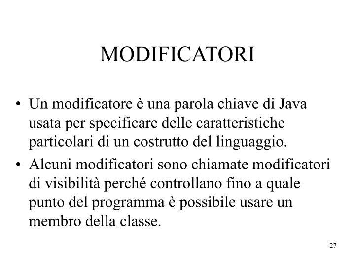 MODIFICATORI