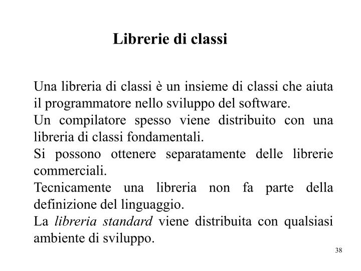 Librerie di classi