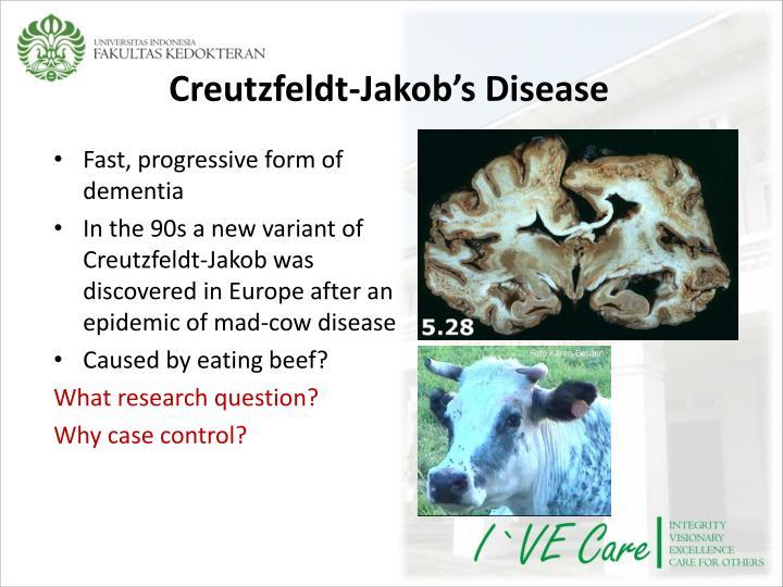 Creutzfeldt-Jakob's Disease