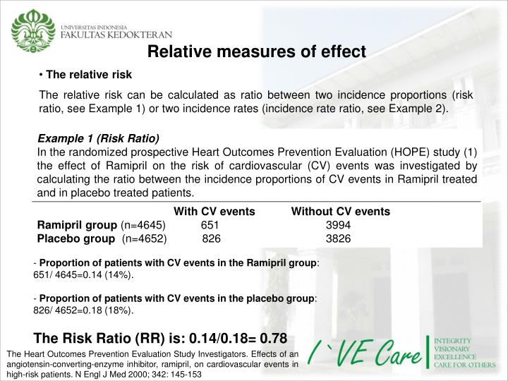 Example 1 (Risk Ratio)