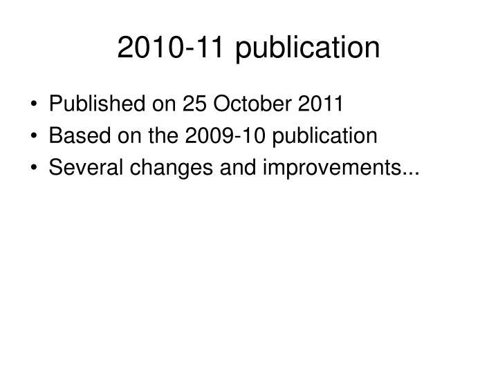 2010-11 publication