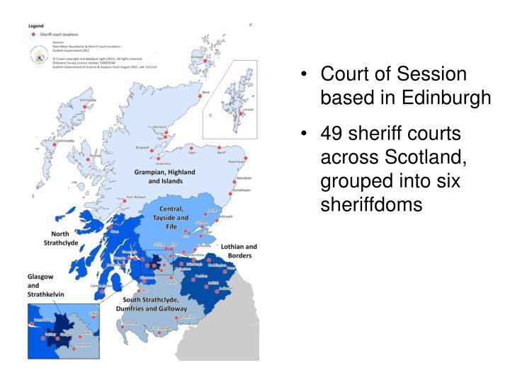 Court of Session based in Edinburgh