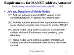 requirements for manet address autoconf draft jeong manet addr autoconf reqts 01 txt 1 3