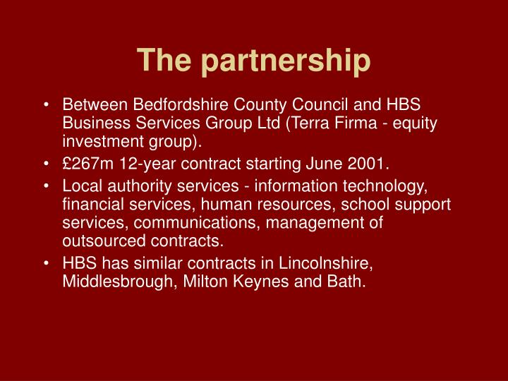 The partnership