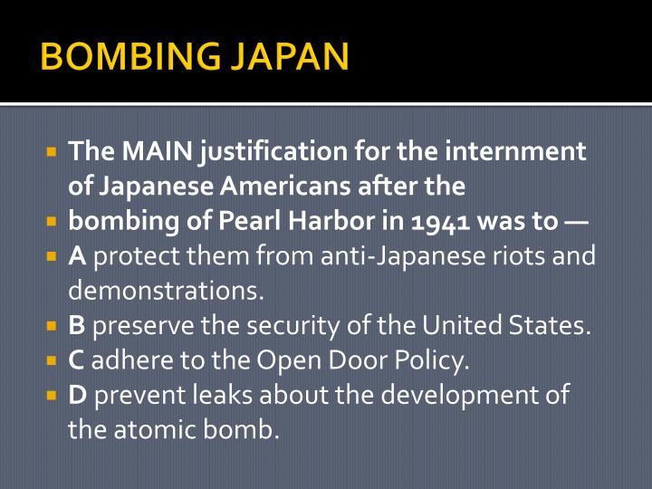BOMBING JAPAN