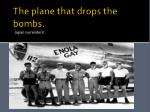 the plane that drops the bombs