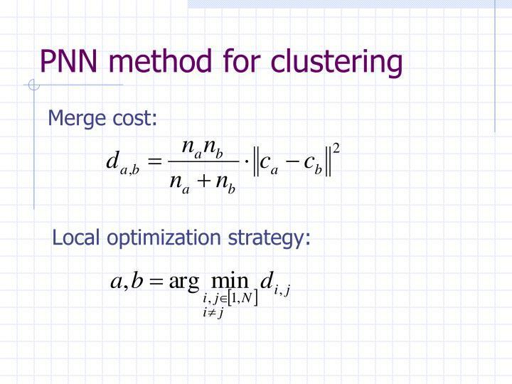 PNN method for clustering
