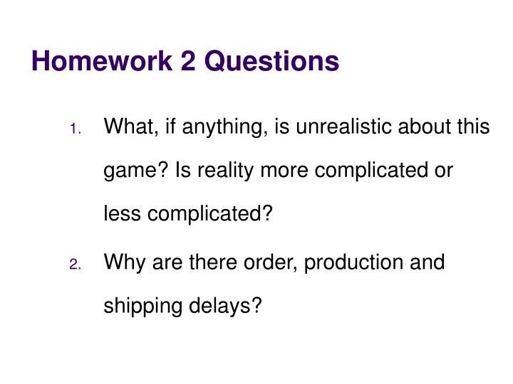 Homework 2 Questions