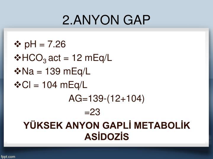2.ANYON GAP