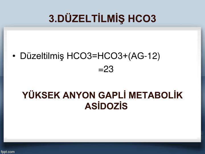 3.DÜZELTİLMİŞ HCO3