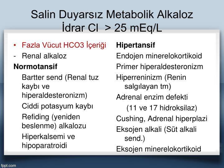 Salin Duyarsız Metabolik Alkaloz