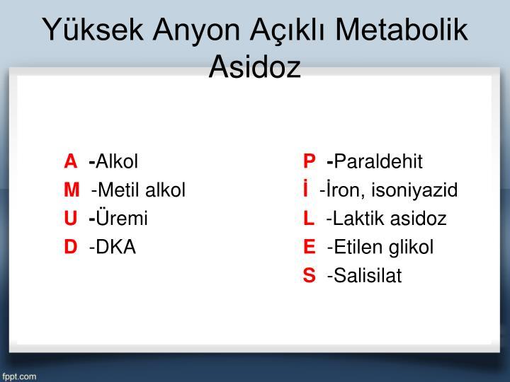 Yüksek Anyon Açıklı Metabolik Asidoz