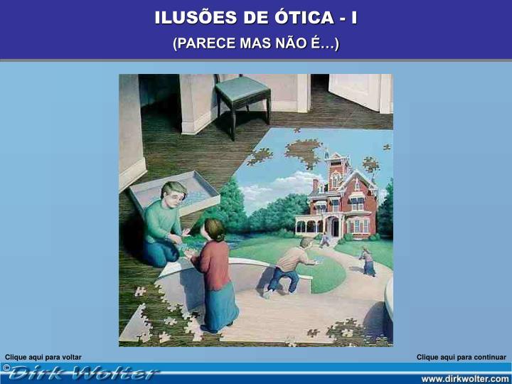 ILUSÕES DE ÓTICA - I