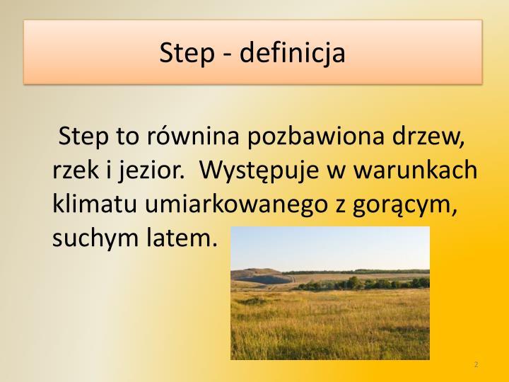 Step - definicja