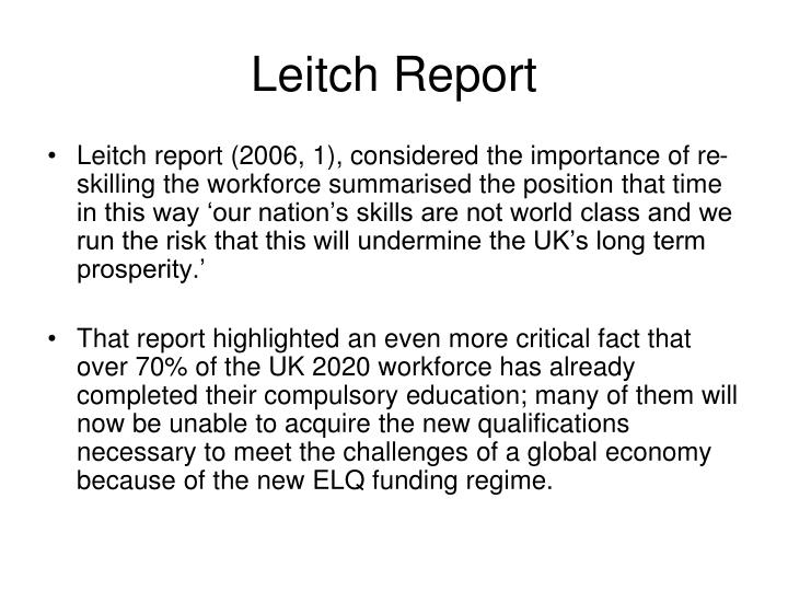 Leitch Report