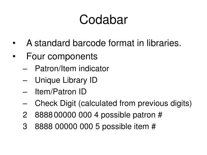 Codabar
