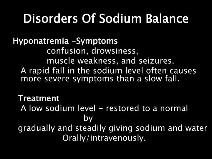 Disorders Of Sodium Balance